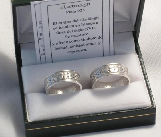 Alianzas de bodas CLADDAGH 11-005B   Casamientos Online