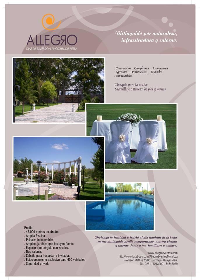Festeja tu casamiento en Allegro Eventos!!!