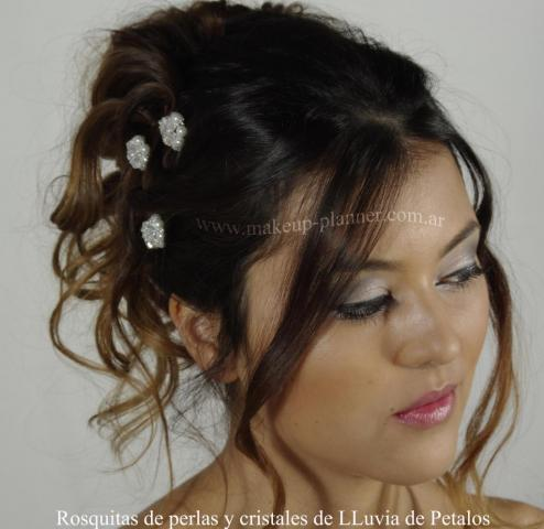 make up  y peinado novia