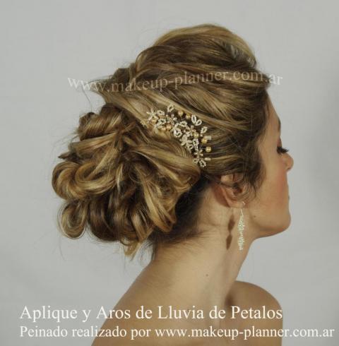 peinado novia recogido con tocado | Casamientos Online