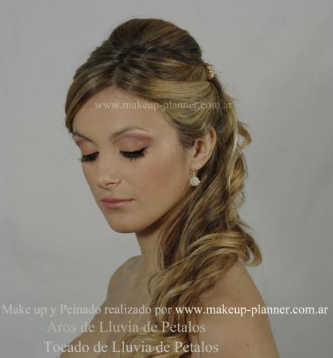 peinado novia semirecogido de costado | Casamientos Online