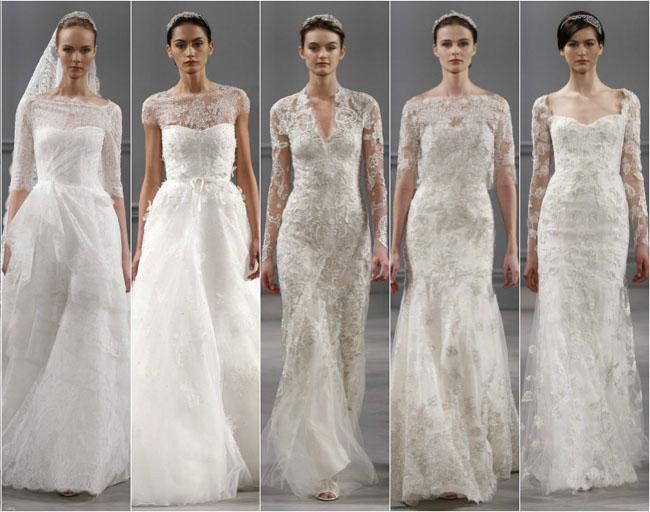 Vestidos de novia con detalles de encaje, tendencias 2014 ...