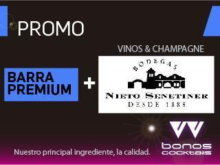 Promo Barra Premium + vinos & champagne Nieto Senetiner