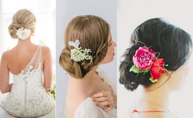 5 peinados de novia para pelos largos casamientos online - Monos bajos novia ...