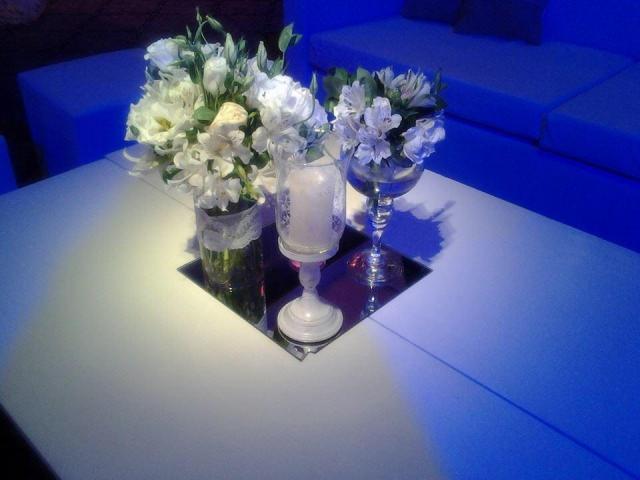 composicion en trio de floreros  | Casamientos Online