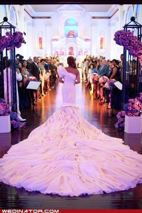 Cola de vestido de novia