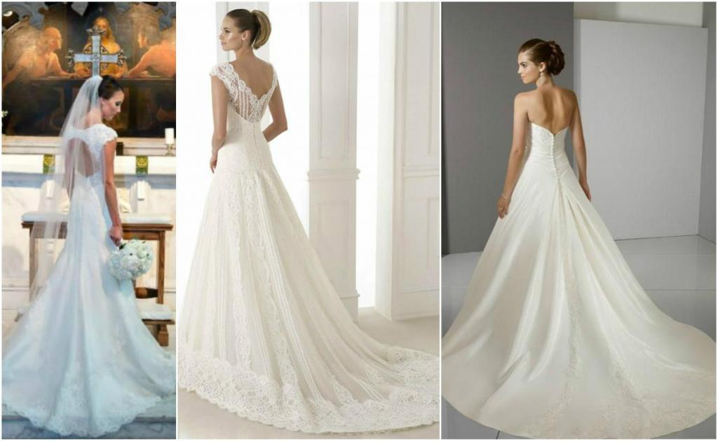 qué tan larga será la cola de tu vestido de novia?? | casamientos online