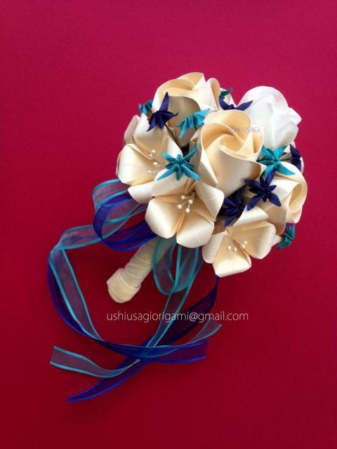 Ramos de novia de papel en origami y papercraft