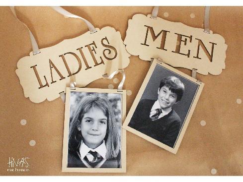 HNAS. Martín Martin - Carteles para toilettes Ladies - Men | Casamientos Online
