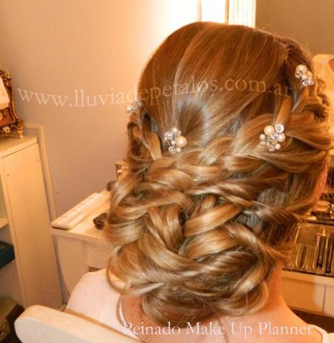 peinado de novia y  tocado con cristales