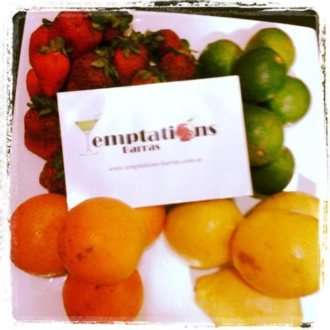Frutas Naturales Temptations Barras | Casamientos Online