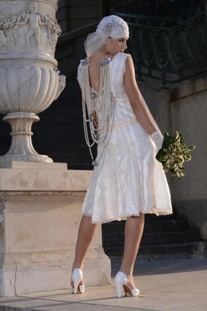 Vestido corto estilo años 20