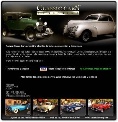CLASSIC CARS, ALQUILER DE AUTOS | Casamientos Online