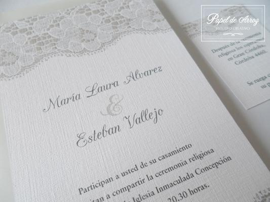Invitaciones Estilo Romántico