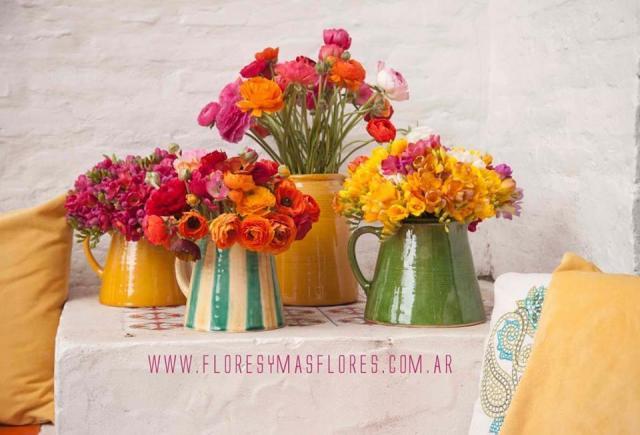 Flores multicoloridas, para un civil. | Casamientos Online