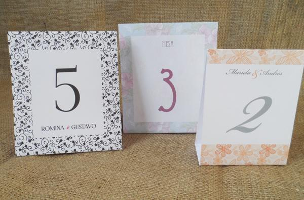 Números de mesa