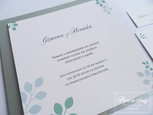 Papel de Arroz (Participaciones) | Casamientos Online