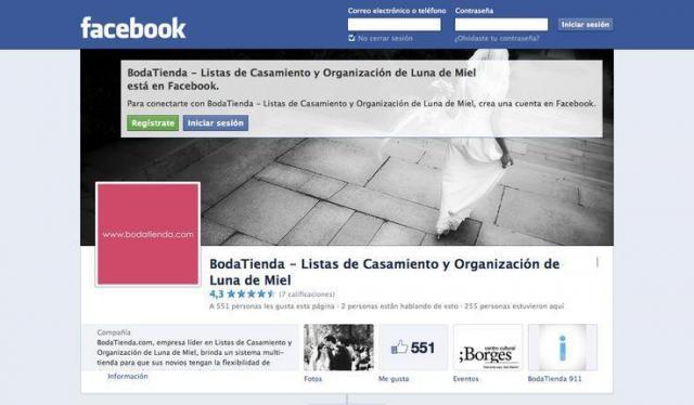 Bodatienda - Seguinos en Facebook | Casamientos Online