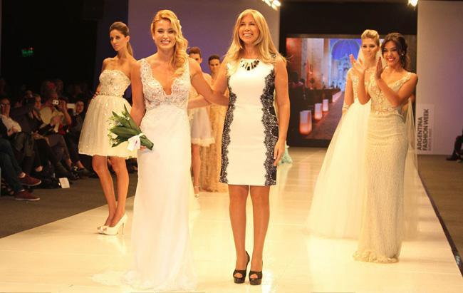 Jesica Cirio vestido de novia BAAM diseñadora Claudia Arce