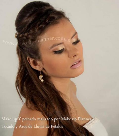 make up novia y peinado semirecogido