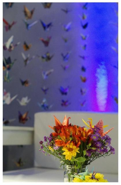 Ambientación con origami   Casamientos Online