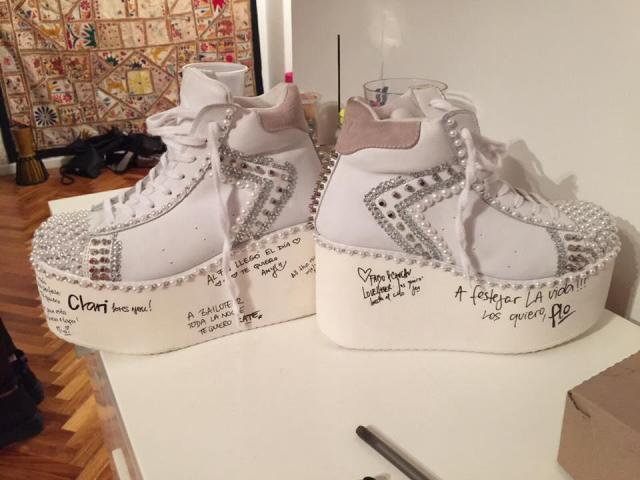 Zapatillas decoradas | Casamientos Online