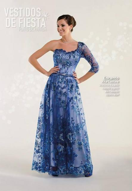 vestido de fiesta azul | Casamientos Online