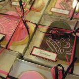 Cookies souvenir  corazón y coronas.