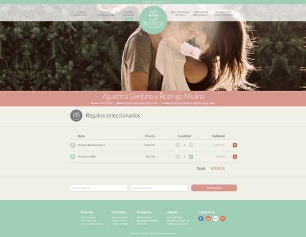 Enhorabuena - Lista de Regalos | Casamientos Online