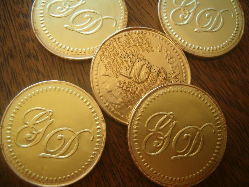 Moneditas personalizadas de chocolate