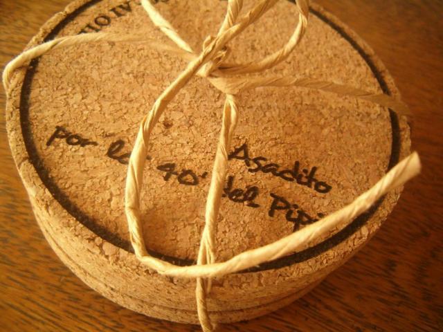 Posavasos de corcho personalizados | Casamientos Online