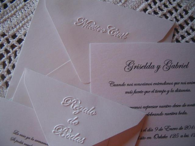 Tarjeta de casamiento civil en relieve | Casamientos Online