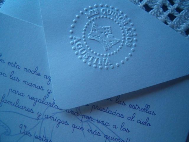 Tarjetas de 15 años personalizadas en relieve | Casamientos Online