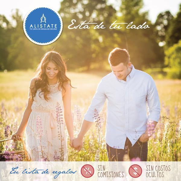 Alistate es tu lista de regalos de casamiento sin comisiones y sin costos ocultos.