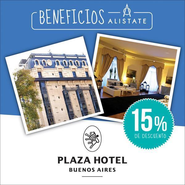 Alistate y Hotel Plaza te ofrecen un #beneficio exclusivo para vos.