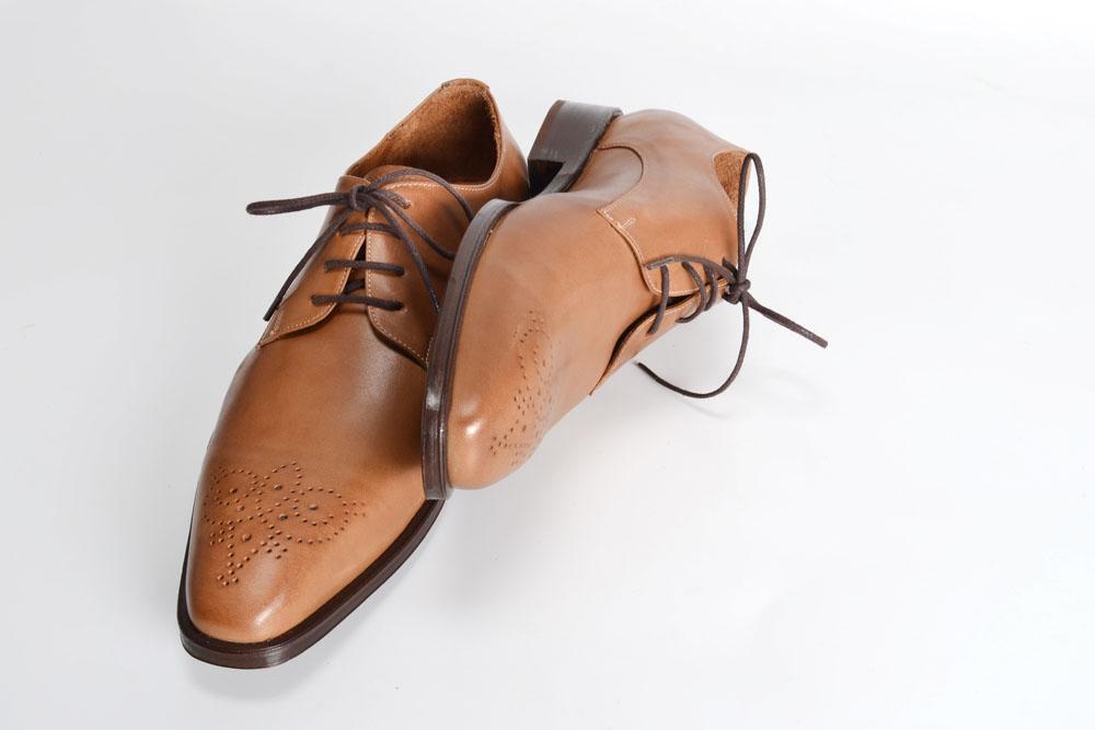 Zapatos de Cuero Color Camel