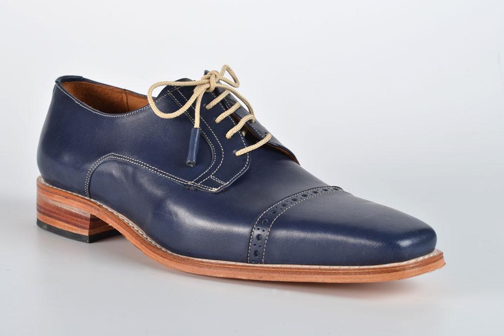 Zapatos de Cuero Color Azul
