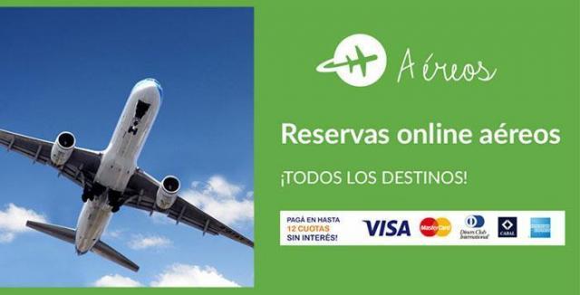 Reserva online de pasajes aéreos!