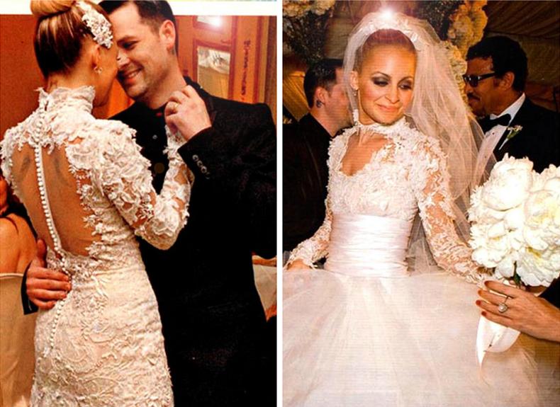 Nicole Richie Cuando la hija de Lionel Richie contrajo matrimonio con Joe Madden en diciembre de 2010, demostró quién es la princesa de la casa. La famosa amiga de Paris Hilton deslumbró a todos con su vestido Marquesa de 20.000 dólares.