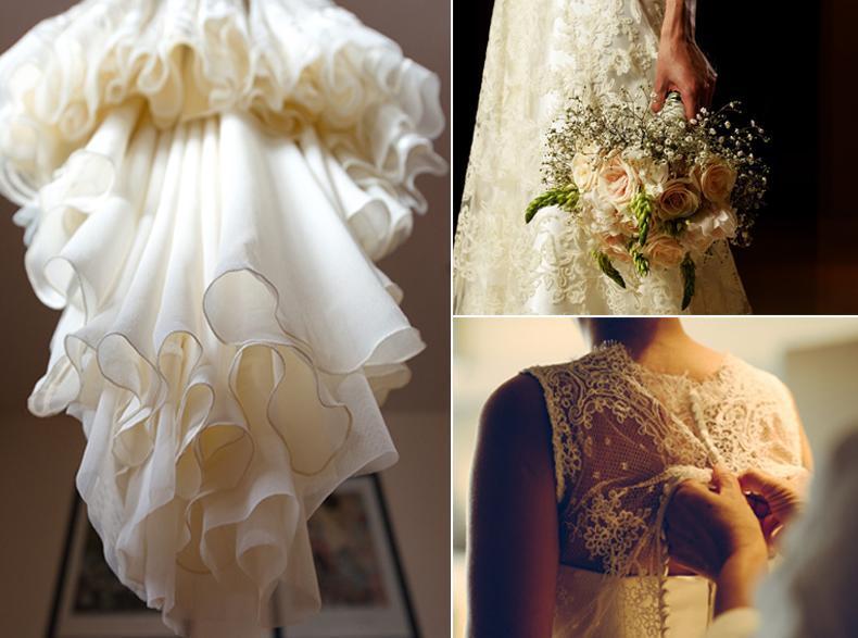 Vestidos de Novia, el ramos, tocado y accesorios, look integral de la novia