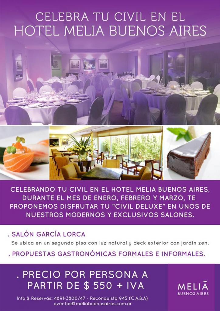 Hotel melia salones exclusivos para casamientos y civiles for Ofertas de salones