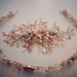 Tiaras de piedras, perlas y cristales