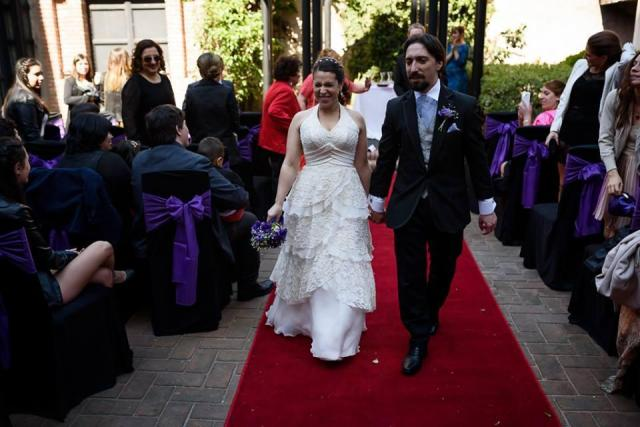 Nadia novia civil y ceremonia maquillaje y peinado Adelaida Mercado | Casamientos Online
