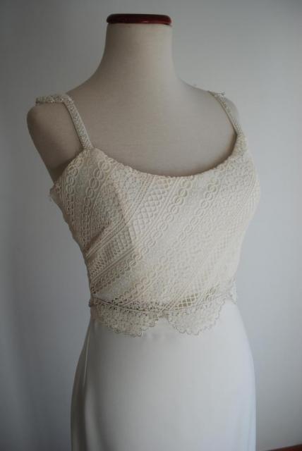 Vestido crop top