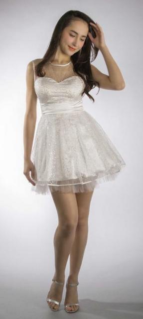 Art. 03159 Vestido de 15 en tul con glitter | Casamientos Online