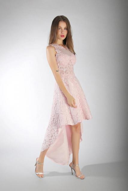 Art. 3176 Vestido de falda high low con corset semi transparente | Casamientos Online