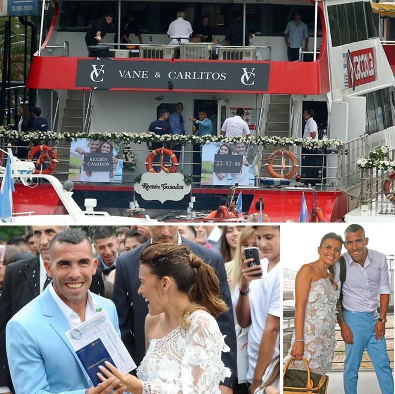 Los detalles del casamiento de Carlos Tevez y Vanesa Mansilla