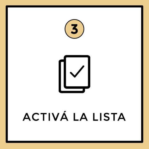 Activa tu lista de regalos | Casamientos Online