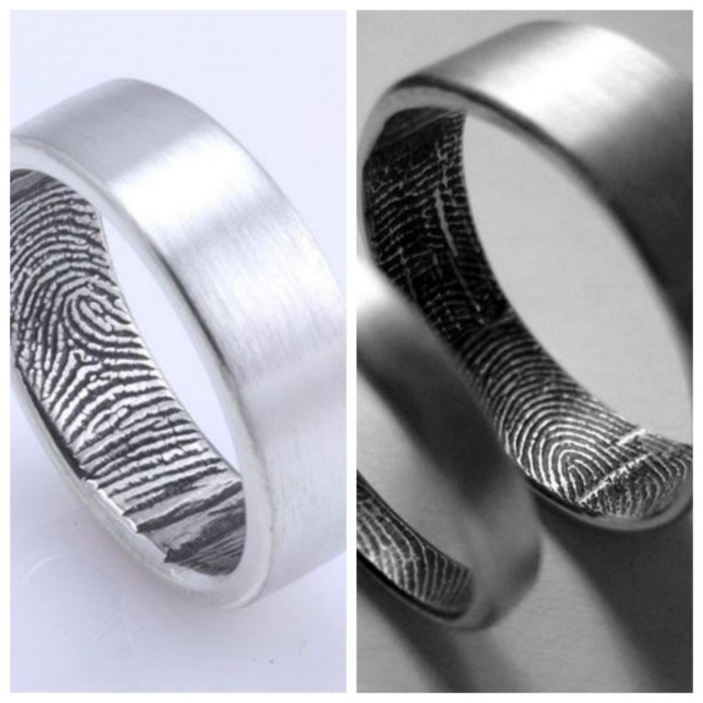 anillos con huellas digitales