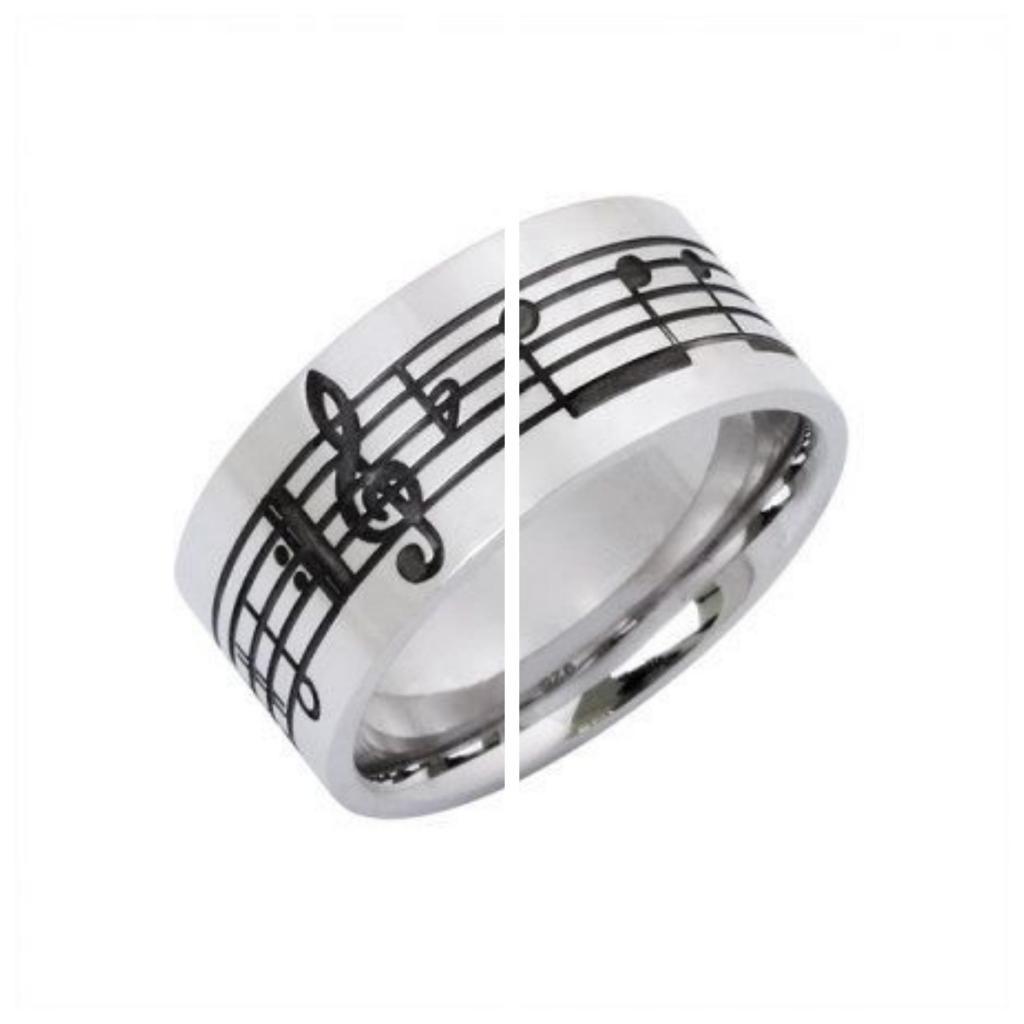 anillos de partitura de musica